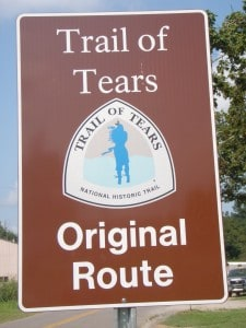 trail of tears original route
