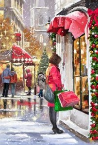 hustle and bustle of christmas